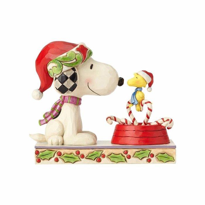 【Dona代購】現貨 美國Enesco精品雕塑 史努比和糊塗塔克聖誕節 造型塑像 木雕風公仔擺飾 雕像模型