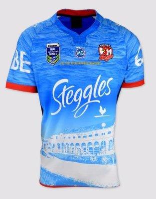 NRL橄欖球服 17澳大利亞悉尼雄雞隊 Sydney Rooster Rugby jersey peugeot