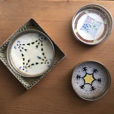 馬約利卡磁磚杯墊*3種(售出)