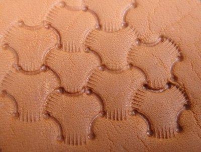 老約翰 皮雕 JL E684 大 皮雕材料 鋼製 打印工具 三股編織紋 皮雕工具