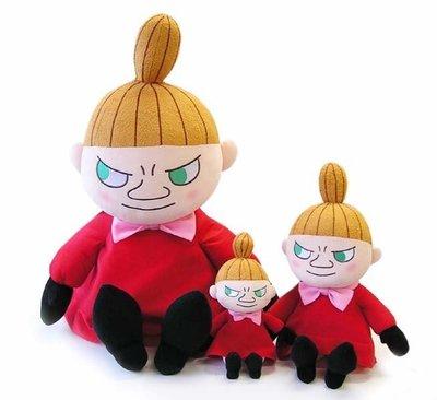 S號☆汪將☆日本正版 嚕嚕米 Moomin 姆明家族 小美 小不點 little my 絨毛布偶 娃娃 S號