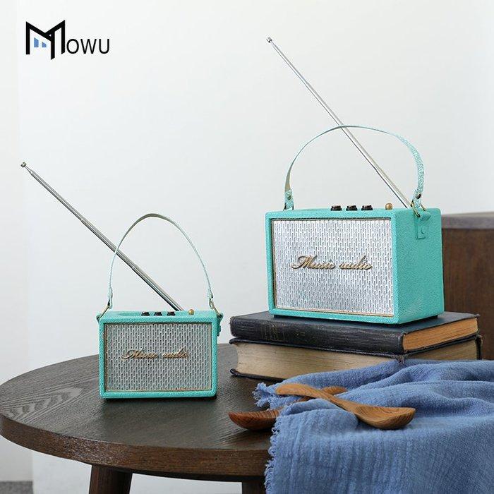 裝飾擺件 裝飾品 摩屋 現代簡約仿真樹脂收音機客廳擺件兒童房電視柜軟裝飾品擺設