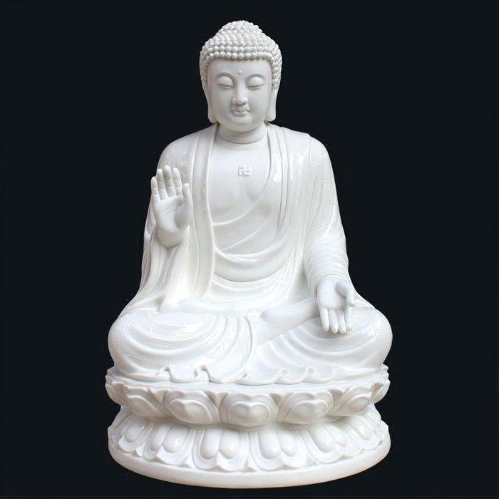 【睿智精品】陶瓷南無本師釋迦牟尼佛 大日如來佛 法像莊嚴(GA-4795)