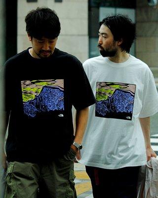潘多拉明星同款 Soda現貨THE NORTH FACE紫標5.5oz H/S Graphic 版畫短袖T恤 21ss