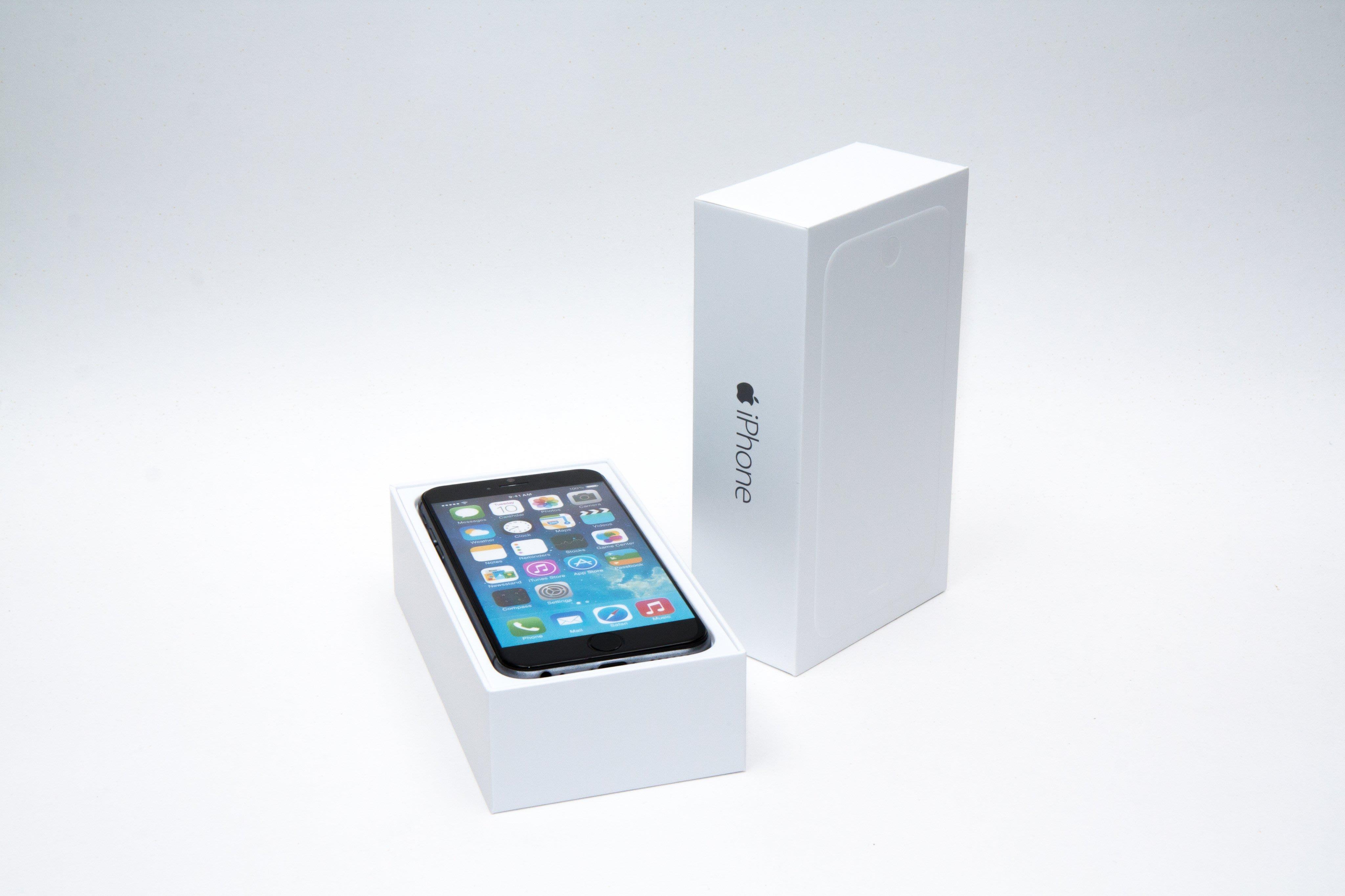 【GooMea】實拍 原廠 外包裝盒Apple蘋果iPhone 6 6 Plus 4.7吋 5.5吋 外盒 外箱 白盒