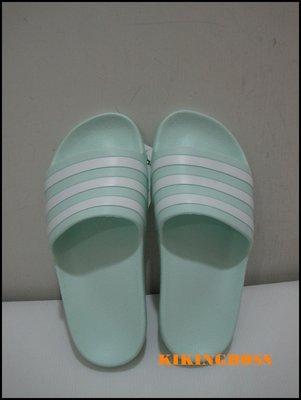 【喬治城】ADIDAS 女款愛迪達運動拖鞋 綠白 F35535 特價590元