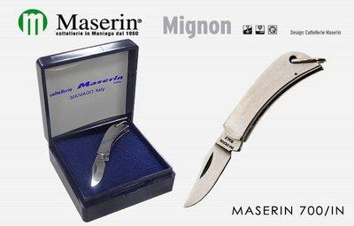 【angel 精品館 】義大利 MASERIN 迷你Mignon不鏽鋼柄折刀4cm_700IN