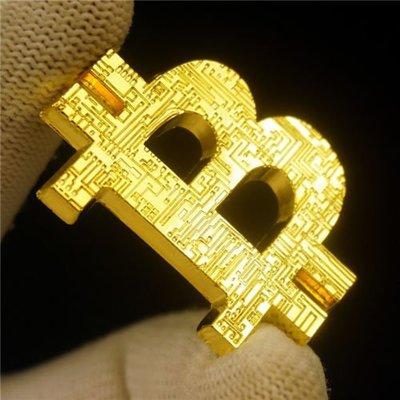 Bitcoin比特紀念幣立體鑄幣-BTC鏤空幣-40mm