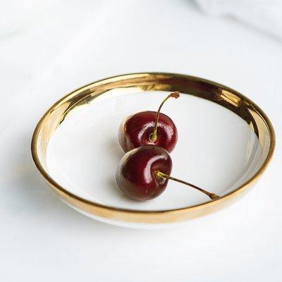 餐具 瓷碗 瓷盤 家用圓形味碟創意簡約歐式新骨瓷電鍍調味碟醬碟曙光