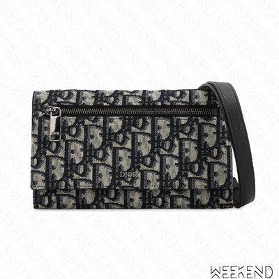 【WEEKEND】 DIOR Oblique Strap Wallet 老花 皮夾 肩背包 胸口包 20春夏
