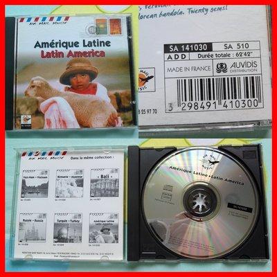 ◎1998年-法國版-拉丁美洲-民族音樂-Latin America-樂器有豎琴.南美小吉他.羊趾串.大鼓.等24首CD