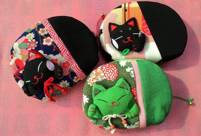 【螢螢傢飾】日本進口 ☆☆ 大和風-招財貓 ☆☆ 零錢包,隨手包,化妝包,收納萬用包.