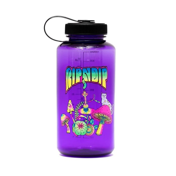 { POISON } RIPNDIP PSYCHEDELIC WATER BOTTLE 迷幻中指貓寬口圓形水瓶