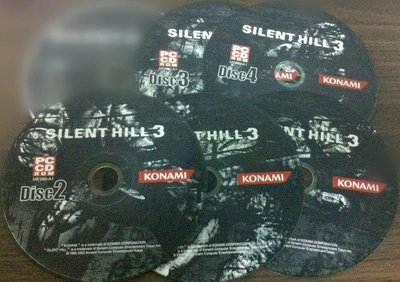 PC  GAME-- Silent Hill 3(CD1--CD5) /2手