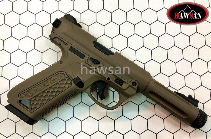 華山玩具  Action Army - AAP01 GBB 單連發 瓦斯手槍 沙色 (編號:AACGSAAP01T)