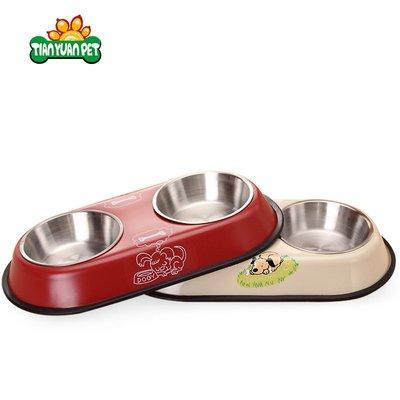 狗狗用品狗食盆狗碗狗盆貓碗貓食盆寵物碗雙碗狗狗食盆狗狗碗