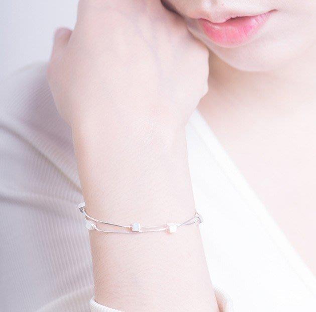 F-039 日韓甜美氣質方塊雙層手鍊簡約個性飾品女款首飾