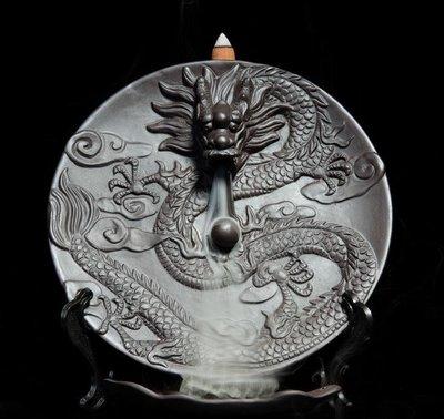 新款陶瓷香薰爐工藝陶瓷煙倒流熏香爐石磨香爐