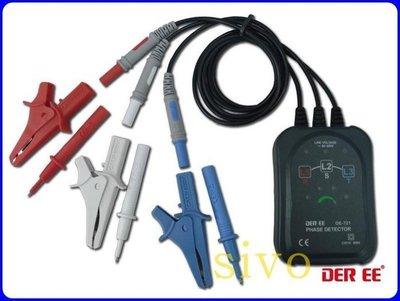 ☆SIVO電子商城☆台製得益DER EE DE-721 相序計 相序錶 相序判斷指示 線電壓(活電)指示