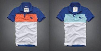 【天普小棧】A&F abercrombie&fitch tri-color polo條紋POLO衫  KIDS XL號