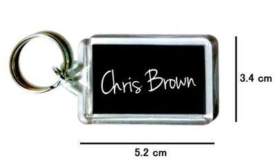 〈可來圖訂做-鑰匙圈〉Chris Brown 克里斯小子 壓克力雙面鑰匙圈 (可當吊飾)