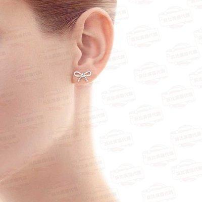 【菲比代購&歐美精品代購專家】TIFFANY&CO. 蒂芙尼 925純銀 經典款 簡約蝴蝶結 溫婉淑女 氣質耳環