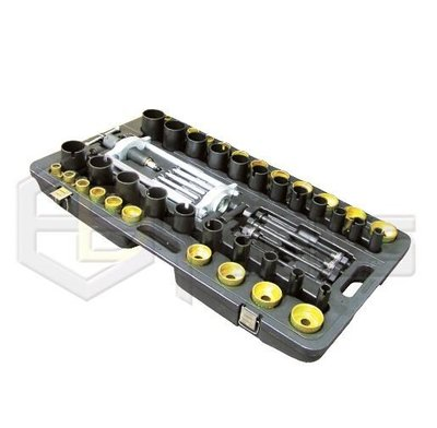 義德工具 手動式油壓汽車拉桿避震鐵套更換工具(57 PCS) 萬用鐵套拆裝工具 鐵套拆裝器