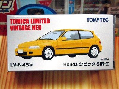 TOMYTEC LV-N48c Honda CIVIC SiR-II (黃)