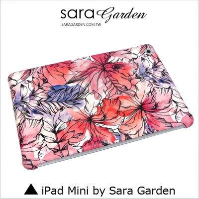 iPad Mini 1 2 3 4 客製化 保護殼 水彩扶桑花【G0101728】
