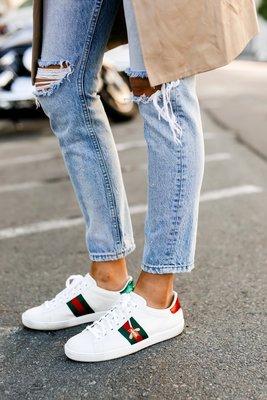 【GUCCI】Gucci Ace Sneaker 蜜蜂刺繡 小白鞋 蜜蜂鞋 運動鞋 休閒鞋