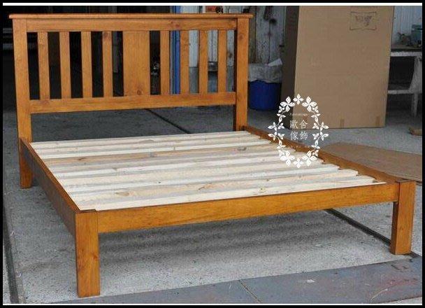 實木5*6.2床架 簡約線條原木標準床組雙人床 另有加大床床頭櫃斗櫃衣櫃系統櫃可搭北歐風現代簡約風日式風格【歐舍家飾】