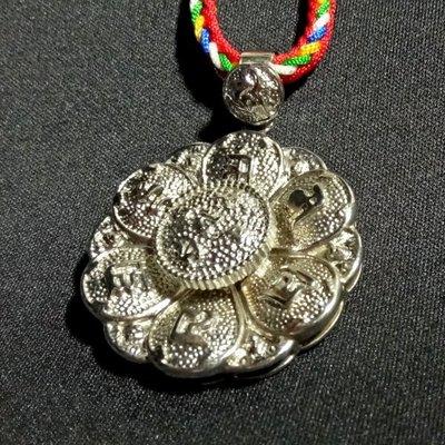 【天馬行銷】五方佛 六字大明咒 蓮花造型 項鍊 吊飾