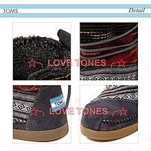 ☆╮LOVE TONES╭☆美國正品TOMS鞋『免運』Wool Stripe【 條紋羊毛系列   雪靴】秋冬預購款