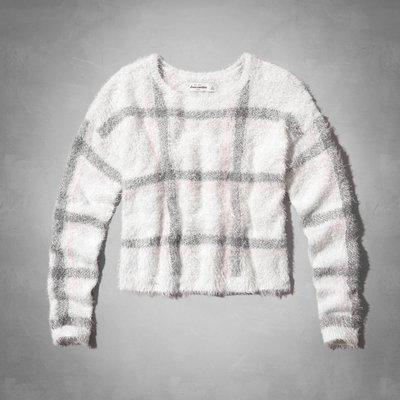 《Cupio》Abercrombie Kids eyelash intarsia pattern時尚格紋毛衣(XL)83