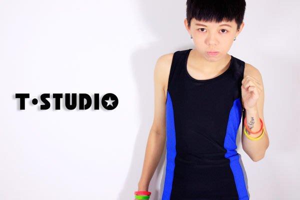 WaLi【S1700】T-SUTDIO新款套式撞色束胸泳衣(上衣),挖背中性造型,全套購滿享好禮三件組