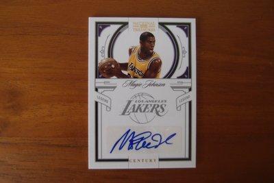 美國NBA職籃明星-MAGIC JOHNSON-親簽限量號3/5-被ESPN評為有史以來最偉大的控球後衛-暱稱「魔術師」