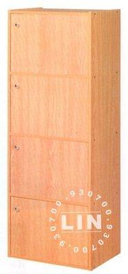 【品特優家具倉儲】A954-03收納櫃書櫃資料櫃四層門櫃優惠價