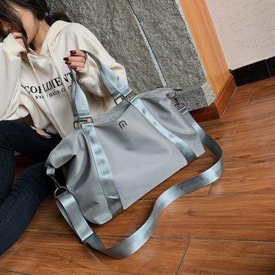 @自然小鋪 旅行收納包放衣服輕便手提女大容量行李包周末便攜帆布瑜伽健身包