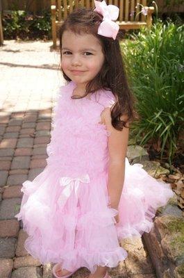 Popatu Pink Ruffle Petti Dress party dress birthday 粉紅 蛋糕 生日