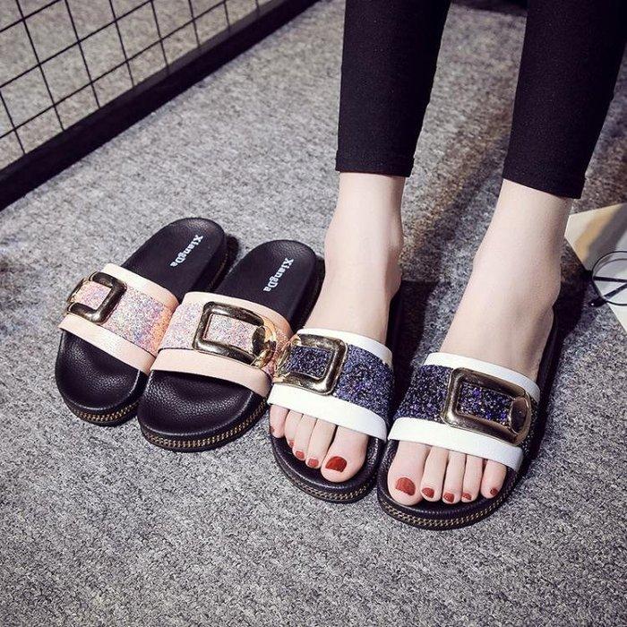 涼拖鞋女夏時尚個性室內日韓女士防滑厚底辦公室外穿夏天