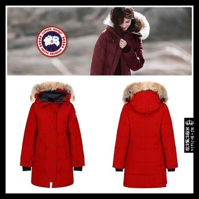 ♔MissyJ英國代購♥ Canada Goose Parka 知名品牌加拿大鵝朱紅色帶帽狼毛領禦寒大衣防風頂級羽絨外套
