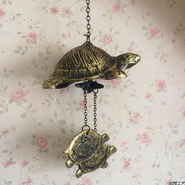 鑄鐵風鈴,工藝品園林掛飾日式歐式庭院風鈴烏龜風鈴