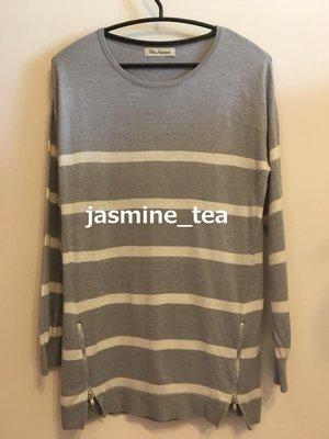 特價商品・I-235/USED<日本CLEAR IMPRESSION 條紋長袖針織罩衫>2