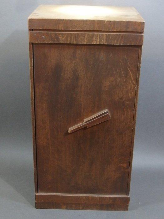 ☆清沁苑☆/清倉特價品出清/日本茶道具~櫸木製 古い一枚板寶扇扣 茶箱 書箱 器局~d586