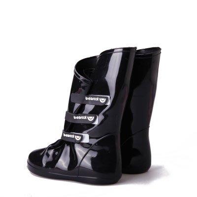 中筒雨鞋 雨具 -防水防滑時尚流行女鞋套2色5s59[獨家進口][米蘭精品]