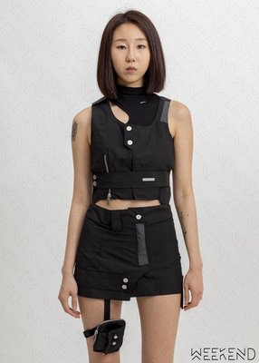 【WEEKEND】 折扣 C2H4 Asymmetry symmetry 不對稱 兩件式 上衣 背心 黑色