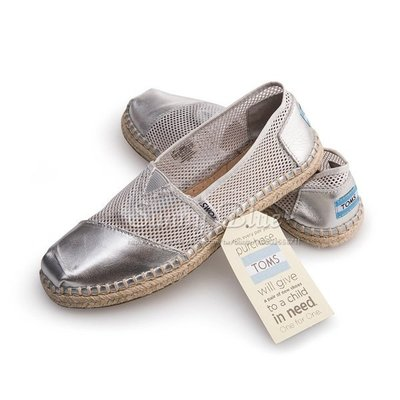 【TOMS】(女)TOMS Mesh 銀色洞洞麻底休閒懶人鞋*銀色 台北市