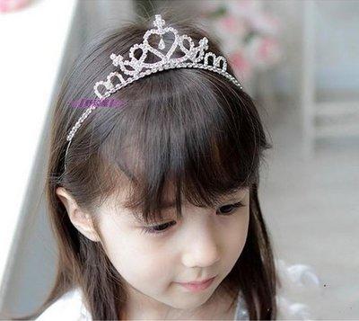 ~~║野玫屋║~~新娘頭飾~婚紗禮服 攝影舞台配飾~可愛小公主水晶水鑽皇冠髮箍