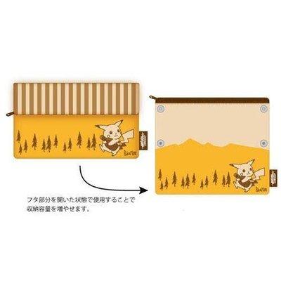 預購 日本空運代購 日本嚴選 精靈寶可夢神奇寶貝 皮卡丘扣式摺疊旅行 / 化妝包