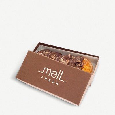 英國MELT Dark chocolate orange and lemon slices 橘子黑巧克力片 10片 預購